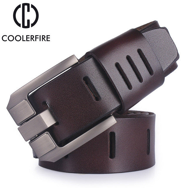 High quality men's genuine leather belt