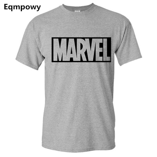 2017 New Brand Marvel t Shirt men Top quality cotton