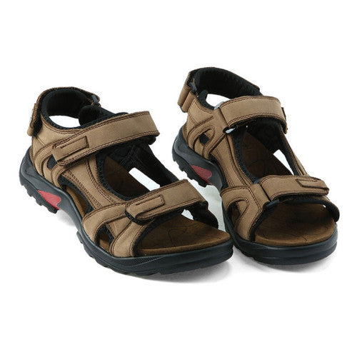 Top quality sandal 2017 r genuine leather sandals men