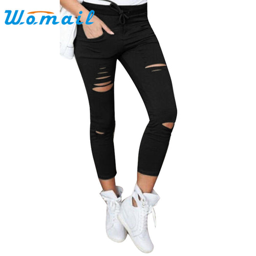 2017 hot  6 color hole  jeans Women Cotton