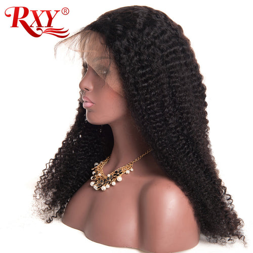 አዝዩ ግሩም ባሩካ ሁማን ሄር (Glueless Lace Front Human Hair Wigs for Women Kinky Curly Wig with Baby Hair)