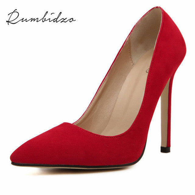 Rumbidzo Plus size Women Pumps 2017 Sexy High Heels