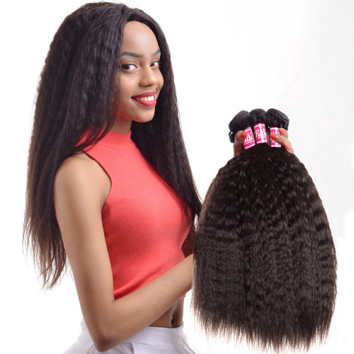 "አዝዩ ብሉጽ ናይ ብራዚል ሁማን ሀር ብርታዊ ዋጋ RUIYU Hair Peruvian Kinky Straight Hair Weave Bundles Human Hair Extensions Coarse Yaki Non Remy Hair Natural Color 1 pc 10""-28"""