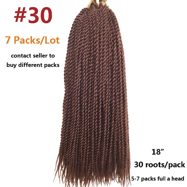 Alileader Products Pre Twist Crochet Hair Extensions 7 Packs Ombre