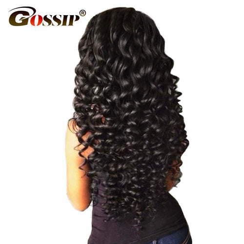 "አዝዩ ብሉጽ ሁማን ሄር ብርታዊ ዋጋ Gossip Deep Wave Brazilian Hair Weave Bundles 100% Human Hair Bundles Natural Color 10""-28"" Double Weft Hair Extension Non Remy"