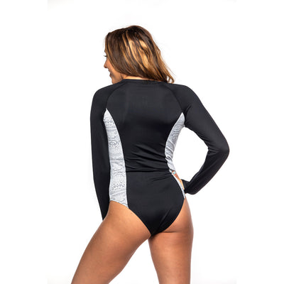 Women's Leidback Zip-Up One Piece Swimsuit