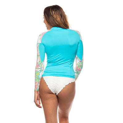 Women's Armed with Floral Rashguard