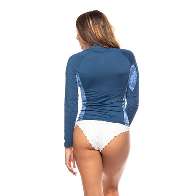 Women's Pretty in Palm Zip Up Rashguard