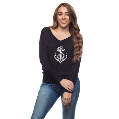 Women's Relaxed Anchor Long Sleeve Shirt