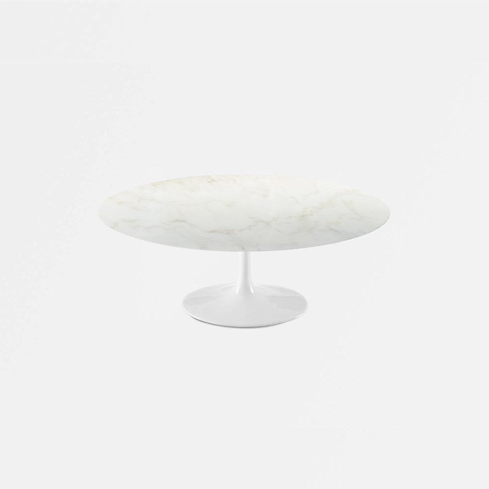Calacatta Gold Marble Tulip Coffee Table - Oval