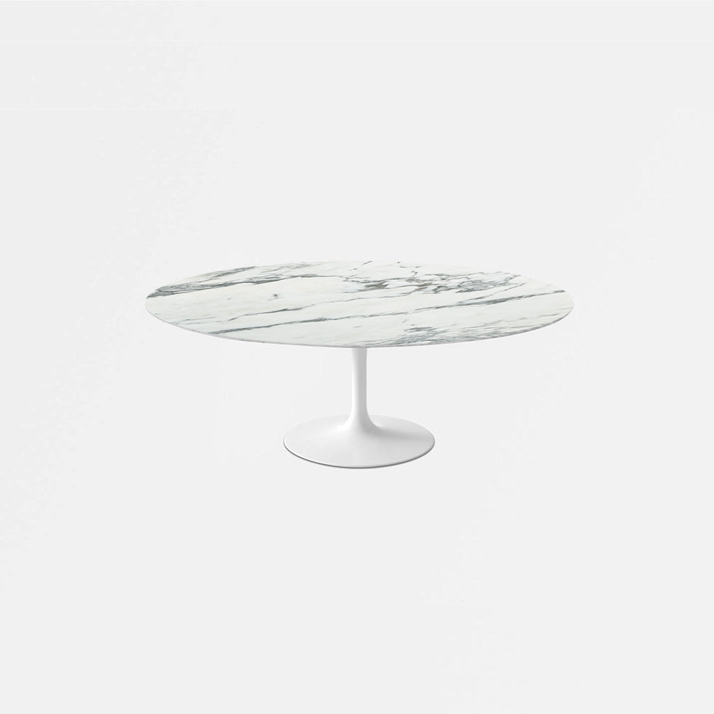 Arabescato Marble Tulip Dining Table - Oval