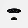 Black Calacatta Quartz Tulip Dining Table - Round