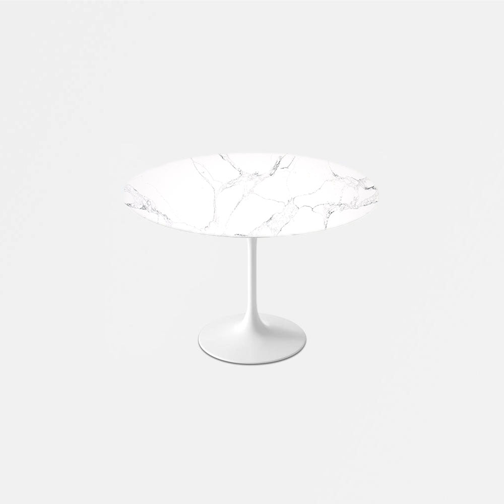 Statuario Venato Calacatta Quartz Tulip Dining Table - Round