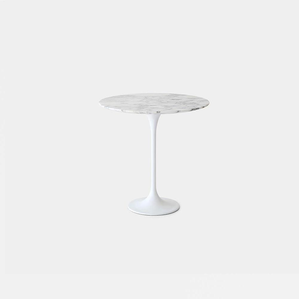 Arabescato Marble Tulip Side Table - Round