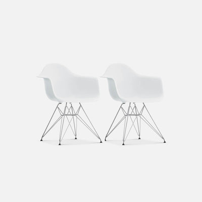 Set of Two DAR Molded Plastic Armchairs