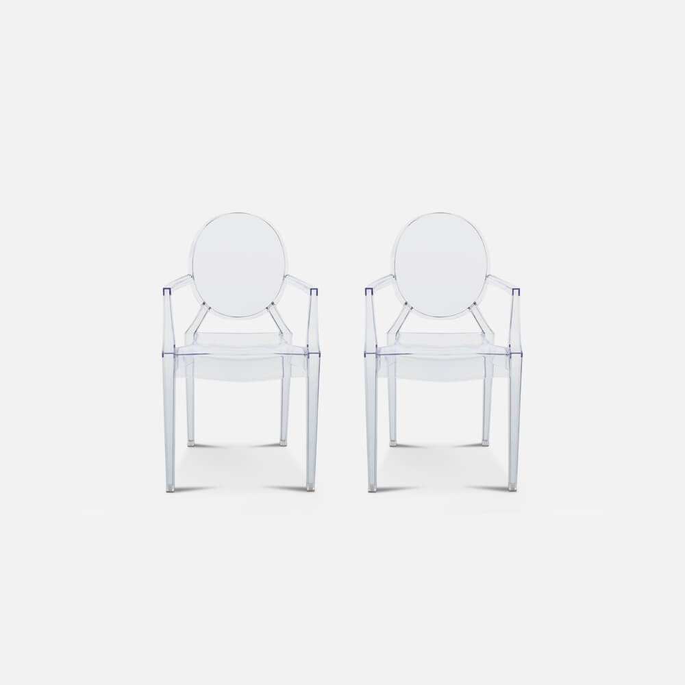 Set of Two Ghost Armchairs Louis