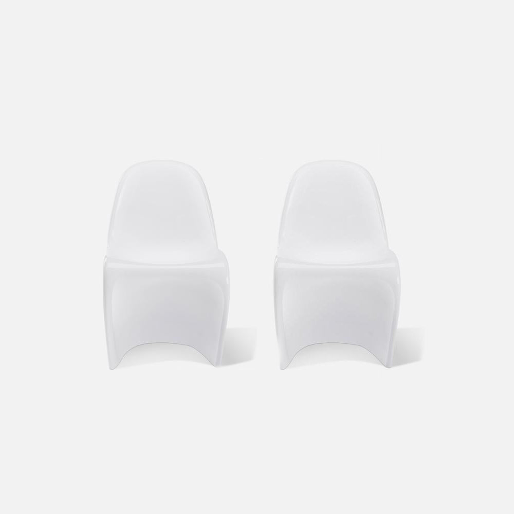Set of Two Fiberglass Classic Panton Chairs