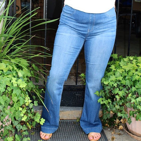 70's Pull On Flares 30 Inch Inseam Medium Denim