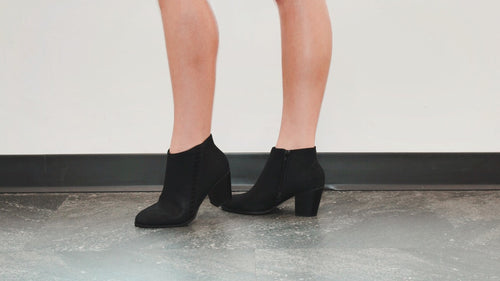 Kicking Around Bootie in Black
