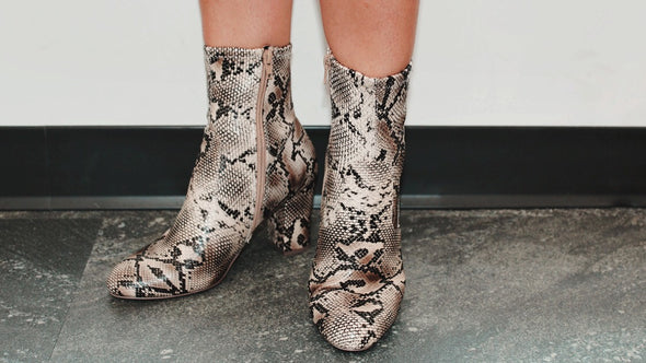 Waiting For You Snakeskin Bootie