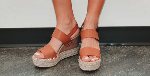 Best Foot Forward Wedge in Tan