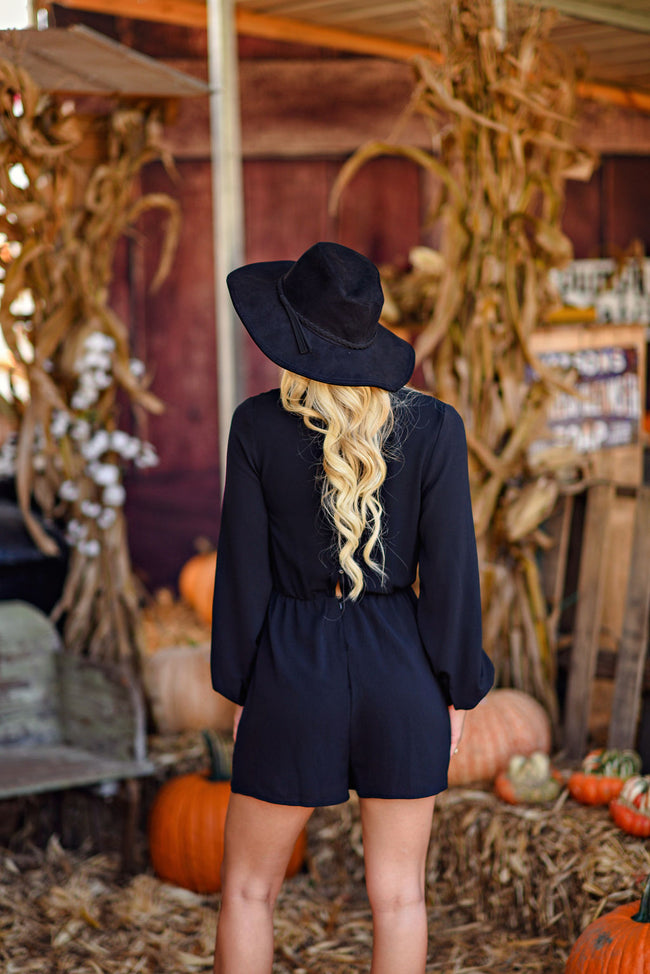 Seasons Of Change Romper in Black