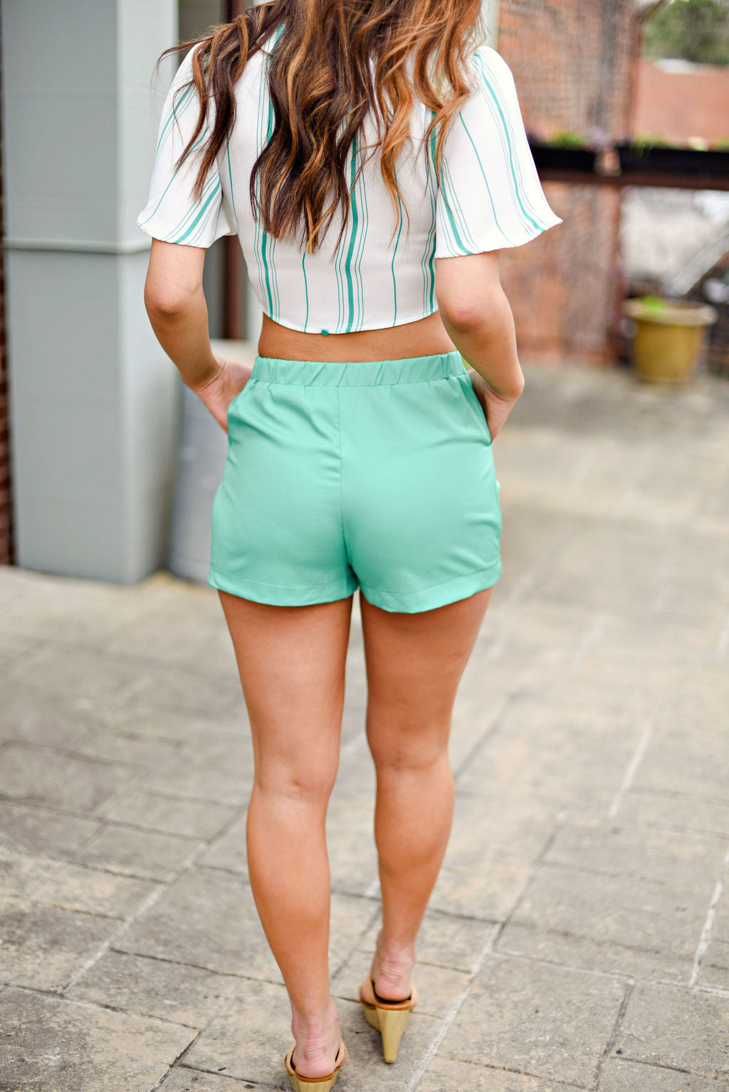 Spring Fever Shorts in Green