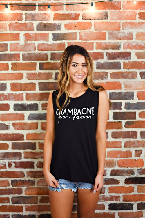 Champagne Tank in Black