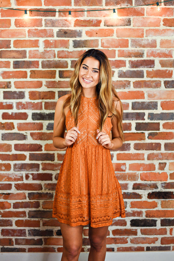 Free To Roam Dress in Amber