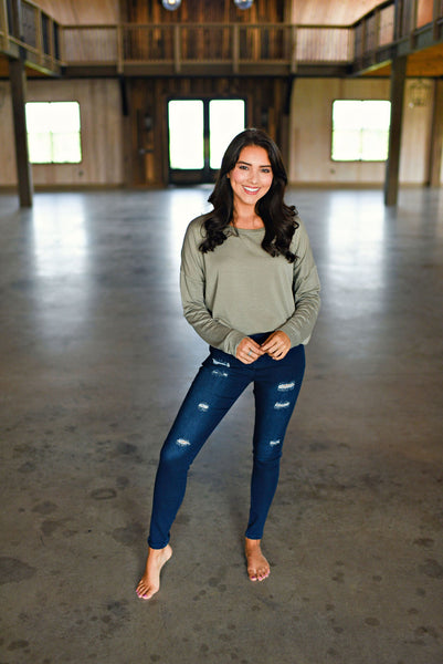 Maddie Bea Distressed Denim Jeggings