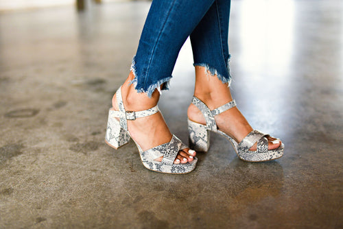 The Very Thing Sandal in Snakeskin