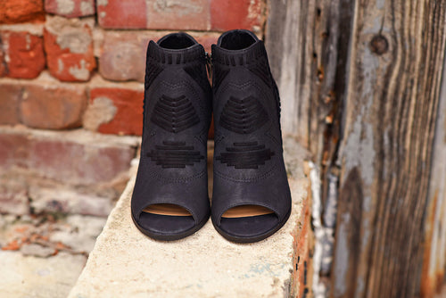 Walk This Way Bootie in Black