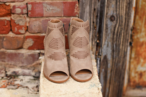 Walk This Way Bootie in Taupe