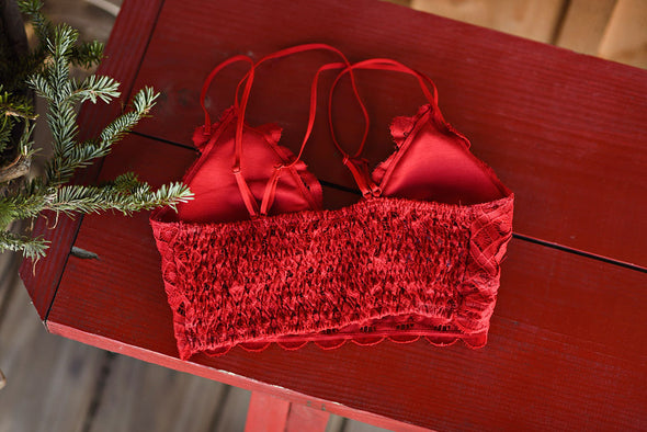 Your Greatest Wish Bralette in Red