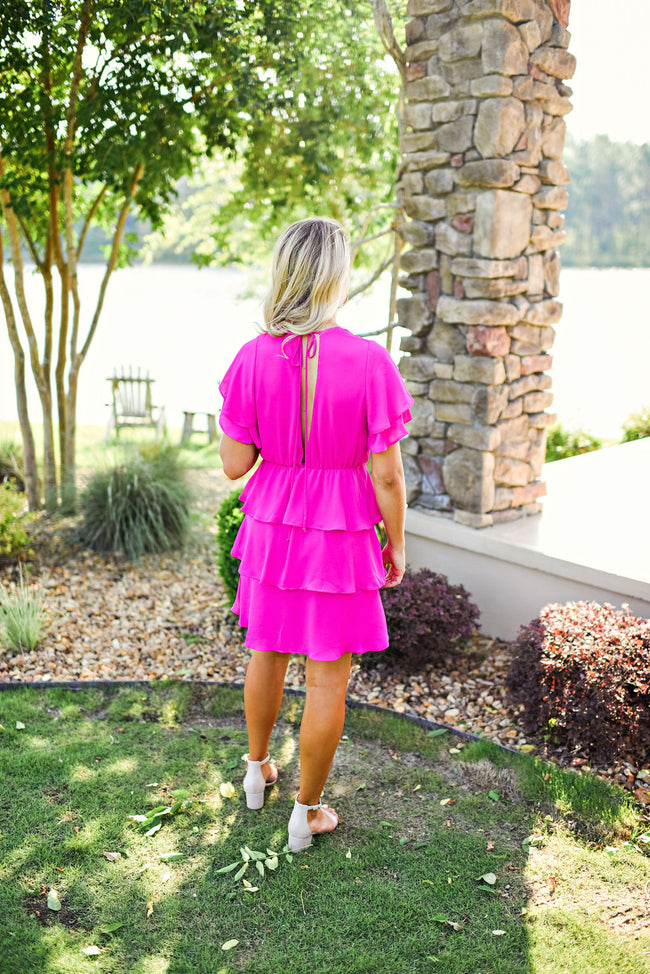 Feeling Bubbly Dress in Hot Pink