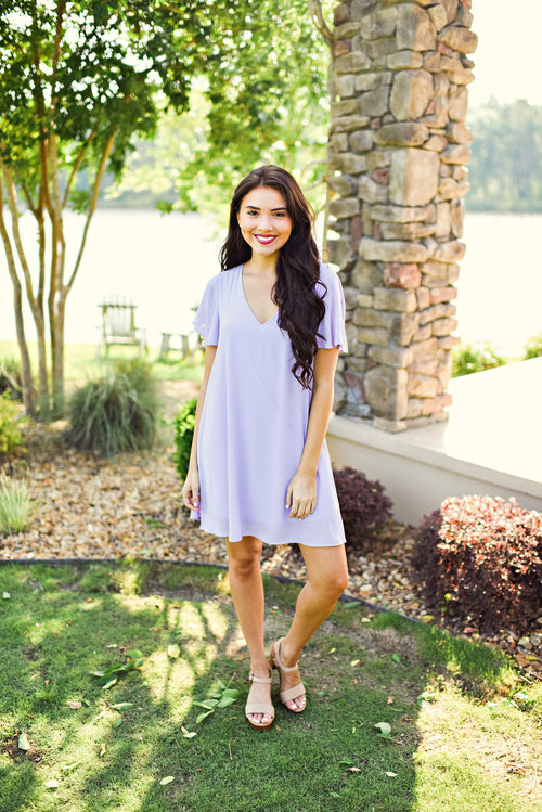 Picture Perfect Dress in Lilac