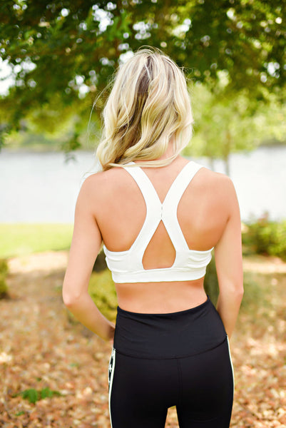 Ready For It Sports Bra in White