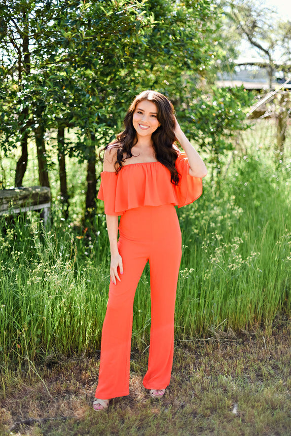 Keep It Current Jumpsuit in Citrus