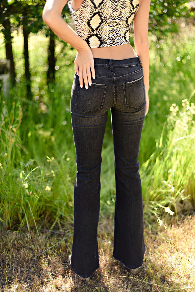 Damsel In Distress Black Flares