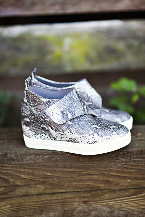 Take A Bite Wedge Sneakers