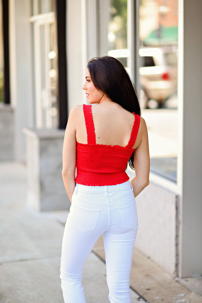 Best By Far Crop Top in Red