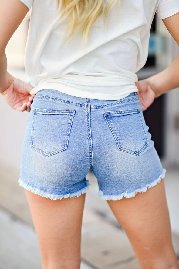 Get Along Fine Denim Shorts