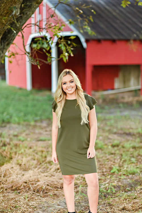 Your Best Fit Dress in Olive