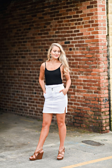 Put A Spell On You Skirt in White