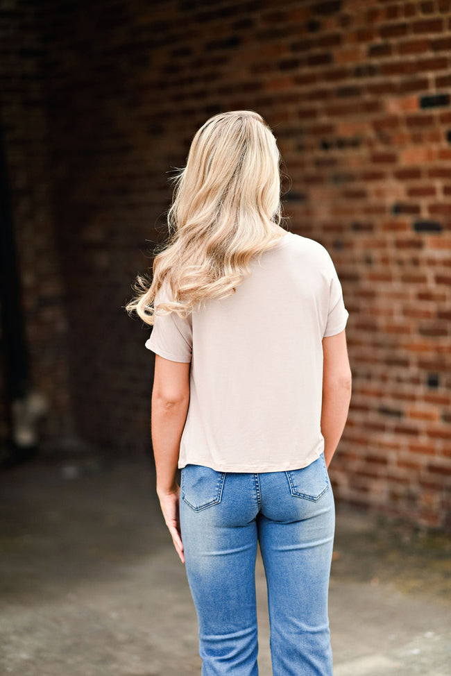 Follow Up Tee in Tan