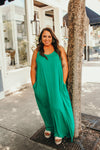 Here's Your Reason Green Maxi in Curvey