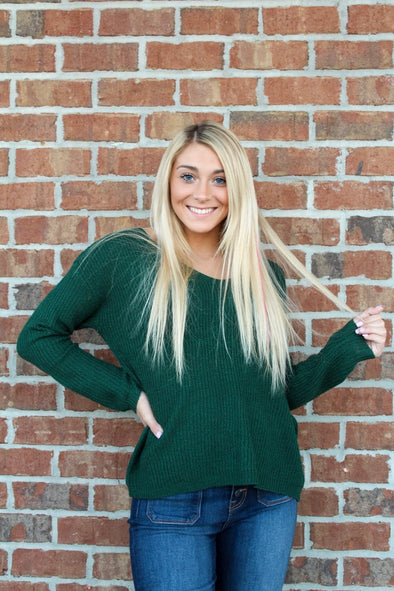 Perfect Timing Sweater in Green