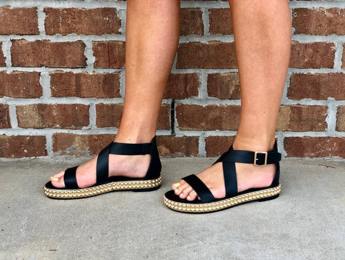 Over The Rainbow Sandals in Black