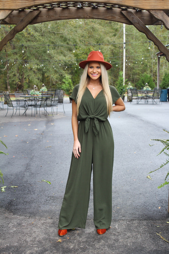 No Hesitation Jumpsuit in Olive