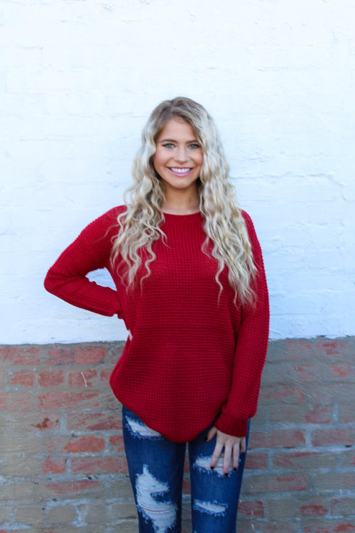 Simple Times Top in Red